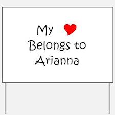 Cute Arianna Yard Sign
