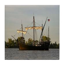 Sailing Ship 1500's, Tile Coaster