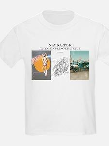 Gunslinger Betty: Navigator Kids T-Shirt