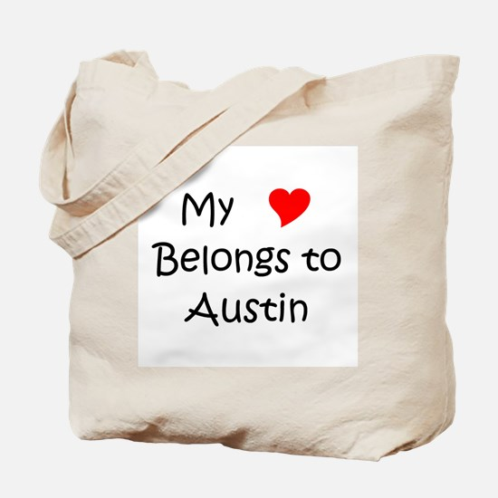 Cute My heart belongs benito Tote Bag