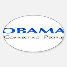 Obama: Connectiong People Oval Decal