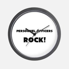 Personnel Officers ROCK Wall Clock