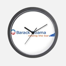 Barack Obama: Raising the bar Wall Clock