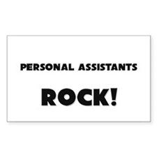 Personal Assistants ROCK Rectangle Decal