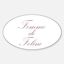 French Cat Lady Oval Decal