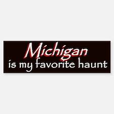 Michigan Haunt Bumper Sticker - Red