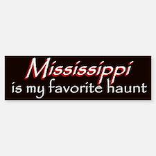Mississippi Haunt Bumper Sticker - Red