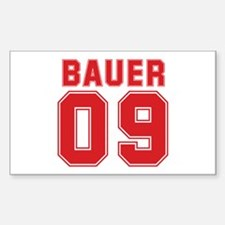 BAUER 09 Rectangle Sticker 10 pk)