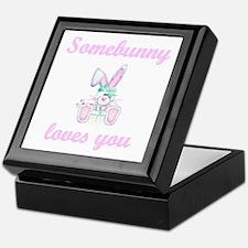 Somebunny Loves You (girl) Keepsake Box