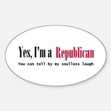 Yes Republican Oval Decal