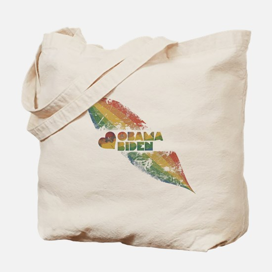 Rainbow Obama Biden Grunge Tote Bag