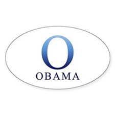 Blue Obama O Oval Decal