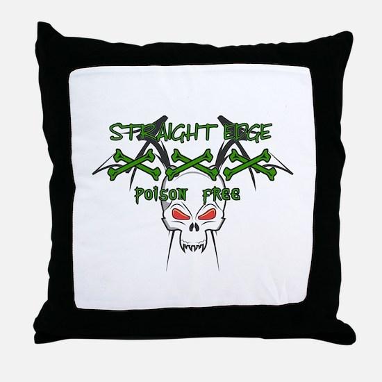 Straight Edge Poison Free II Throw Pillow