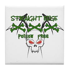 Straight Edge Poison Free II Tile Coaster