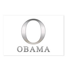 Silver Obama O Postcards (Package of 8)
