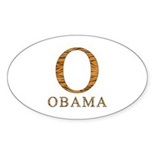 Tiger Obama O Oval Decal