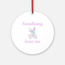 Somebunny Loves Me (girl) Keepsake (Round)