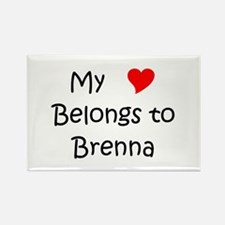 Cute Brenna Rectangle Magnet
