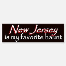 New Jersey Haunt Bumper Sticker - Red