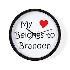 Funny Branden Wall Clock