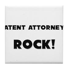 Patent Attorneys ROCK Tile Coaster