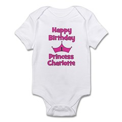 Happy Birthday Princess Charl Infant Bodysuit