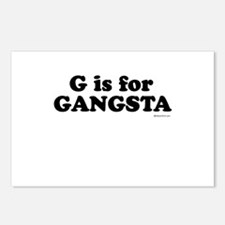 G is for GANGSTA ~   Postcards (Package of 8)