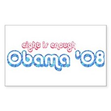 Eight is Enough Rectangle Decal