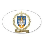 MORNAULT Family Crest Oval Sticker (50 pk)