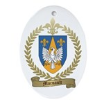 MORNAULT Family Crest Oval Ornament