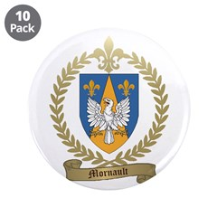 "MORNAULT Family Crest 3.5"" Button (10 pack)"