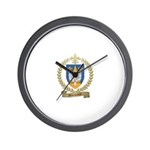 MORNEAULT Family Crest Wall Clock