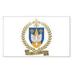 MORNEAULT Family Crest Rectangle Sticker 50 pk)