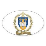 MORNEAULT Family Crest Oval Sticker (50 pk)