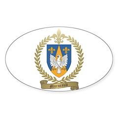 MORNEAULT Family Crest Oval Sticker (10 pk)