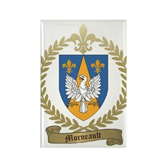 MORNEAULT Family Crest Rectangle Magnet (100 pack)