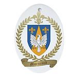 MORNEAULT Family Crest Oval Ornament