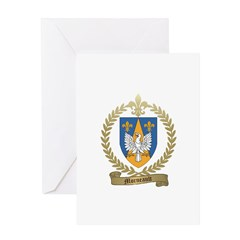 MORNEAULT Family Crest Greeting Card