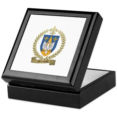 MORNEAU Family Crest Keepsake Box