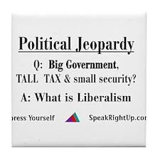 Political Jeopardy Tile Coaster