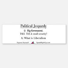 Political Jeopardy Bumper Bumper Bumper Sticker