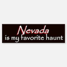 Nevada Haunt Bumper Sticker - Red
