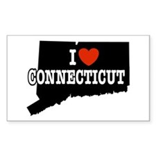 I Love Connecticut Rectangle Decal