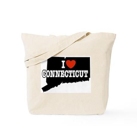 I Love Connecticut Tote Bag