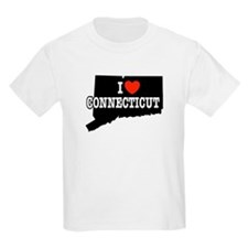 I Love Connecticut Kids T-Shirt