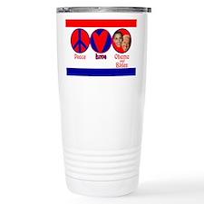Peace, Love, Obama-Biden Travel Mug
