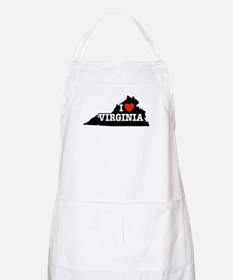 I Love Virginia BBQ Apron