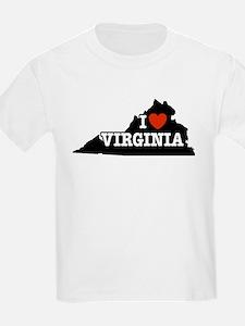 I Love Virginia Kids T-Shirt