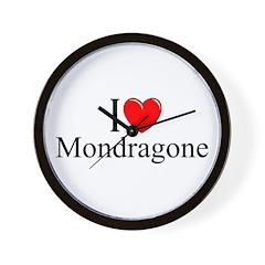 """""""I Love (Heart) Mondragone"""" Wall Clock"""