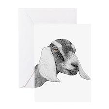 Nubian Goat Sketch Greeting Card
